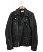 LHP(エルヘイチピ)の古着「ラムレザーダブルライダースジャケット」|ブラック