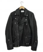 LHP(エルヘイチピ)の古着「ラムレザーダブルライダースジャケット」 ブラック