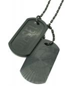 DIESEL(ディーゼル)の古着「ドッグタグネックレス」|ブラック