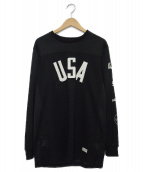 STAMPD(スタンプド)の古着「USAメッシュジャージ パネルロングスリーブTシャツ」|ブラック