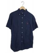 POLO RALPH LAUREN(ポロラルフローレン)の古着「半袖リネンシャツ」|インディゴ