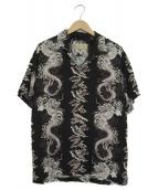 AVIREX(アヴィレックス)の古着「オープンカラーシャツ」|ブラック