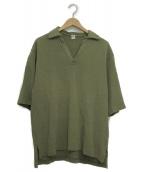 KAPTAIN SUNSHINE(キャプテンサンシャイン)の古着「スキッパーポロシャツ」|オリーブ