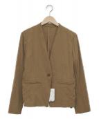LAUTRE AMONT(ロートレアモン)の古着「ノーカラージャケット」|ブラウン