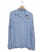 SCHOTT BROS.(ショットブロス)の古着「オープンカラーシャツ」|ブルー