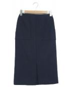 Demi-Luxe BEAMS(デミルクスビームス)の古着「スリットタイトスカート」|ネイビー