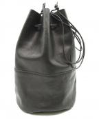 arts&crafts(アーツアンドクラフト)の古着「レザー巾着バッグ」 ブラック