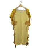 TOGA PULLA(トーガプルラ)の古着「フリンジワンピース」|イエロー