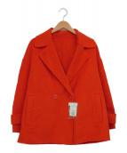 STRAWBERRY FIELDS(ストロベリーフィールズ)の古着「Pコート」 レッド