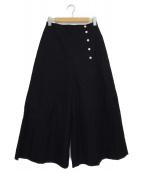 Demi-Luxe BEAMS(デミルクス ビームス)の古着「サイドボタンワイドパンツ」|ネイビー