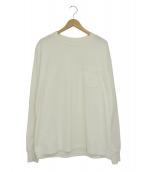 KAPTAIN SUNSHINE(キャプテンサンシャイン)の古着「ポケットカットソー」|ホワイト