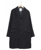FIDELITY(フィデリティ)の古着「メルトンチェスターコート」|ブラック