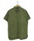 SNOWPEAK(スノーピーク)の古着「半袖ミリタリーシャツ」|カーキ