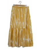 MAX&Co.(マックス アンド コー)の古着「ストライプギャザースカート」|イエロー