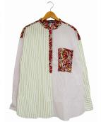 MAX&Co.(マックスアンドコー)の古着「プルオーバーストライプシャツ」|ホワイト×ピンク