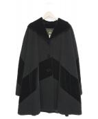 FENDI 365(フェンディ365)の古着「オーバーサイズウールコート」|ブラック