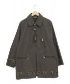 FENDI jeans(フェンディージーンズ)の古着「ロゴジャケットコート」|ブラウン