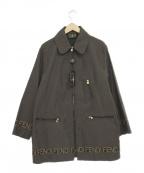 FENDI JEANS(フェンディ ジーンズ)の古着「ロゴジャケットコート」|ブラウン