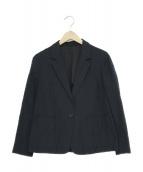 MARGARET HOWELL(マーガレットハウエル)の古着「リネン混テーラードジャケット」|ネイビー