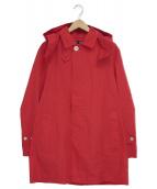 MACKINTOSH PHILOSOPHY(マッキントッシュフィロソフィー)の古着「フーデッドステンカラーコート」|レッド