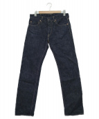 MOMOTARO JEANS(モモタロウジーンズ)の古着「銅丹セルビッチデニムパンツ」|インディゴ