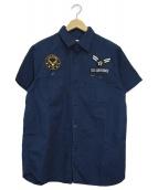 STUDIO DARTISAN(ステュディオダルチザン)の古着「ワークシャツ」 ネイビー
