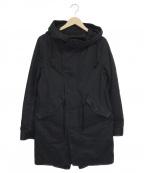 LOUNGE LIZARD(ラウンジリザード)の古着「ライナー付モッズコート」|ブラック