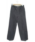 ROPE(ロペ)の古着「ストレッチデニムセンタープレスパンツ」|インディゴ