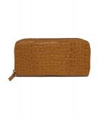 RODANIA(ロダニア)の古着「型押し長財布」 ブラウン