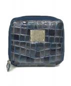 cocco fiore(コッコフィオーレ)の古着「エナメルコインカードケース」|ブルー