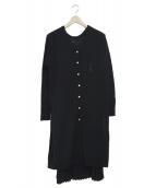 ROPE(ロペ)の古着「プリーツスカートセットニットワンピース」|ブラック