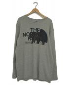 THE NORTHFACE PURPLELABEL(ザノースフェイスパープルレーベル)の古着「ロングスリーブグラフィックTシャツ」 グレー