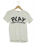 COMME des GARCONS PLAY(コムデギャルソンプレイ)の古着「ロゴTシャツ」 ホワイト