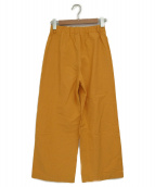 GALERIE VIE(ギャラリーヴィ)の古着「コットンシルクセミワイドパンツ」|イエロー