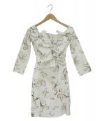ISA ARFEN(イサアフェン)の古着「ミニドレスワンピース」|ホワイト