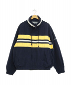 NAUTICA(ノーティカ)の古着「90's袖ロゴジップジャケット」|ネイビー