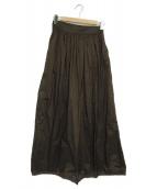 TODAYFUL(トゥデイフル)の古着「パンチングフレアスカート」|ブラウン