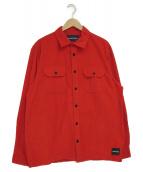 Calvin Klein Jeans(カルバンクラインジーンズ)の古着「コーデュロイシャツ」|レッド