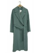PLST(プラステ)の古着「ウールナイロンリバーコート」|グリーン