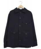 POST OALLS(ポストオーバーオールズ)の古着「ウールメルトンクルーザージャケット」 ネイビー