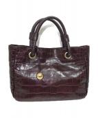 FURLA(フルラ)の古着「型押しハンドバッグ」|ボルドー