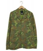 Denham(デンハム)の古着「ストレッチツイルテーラードジャケット」|カーキ