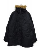 ALPHA(アルファ)の古着「N-3Bモッズコート」 ブラック
