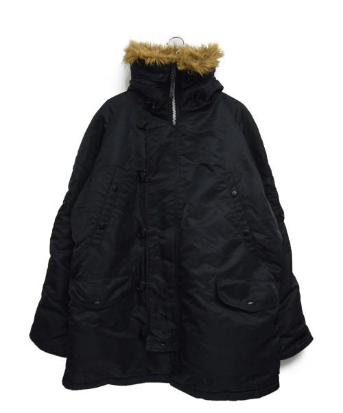 ALPHA(アルファ)ALPHA (アルファ) N-3Bモッズコート ブラック サイズ:XLARGEの古着・服飾アイテム
