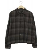VAINL ARCHIVE(ヴァイナルアーカイブ)の古着「オーバーサイズチェックシャツ」|ブラウン×カーキ