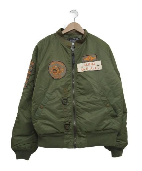 ALPHA(アルファ)ALPHA (アルファ) N-2Bジャケット カーキ サイズ:Mの古着・服飾アイテム