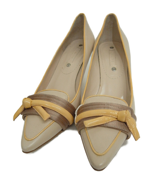 CELINE(セリーヌ)CELINE (セリーヌ) ポインテッドトゥパンプス ベージュ サイズ:37 1/2の古着・服飾アイテム