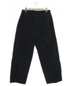 Graphpaper(グラフペーパー)の古着「ミリタリークロス2タックパンツ」 ブラック