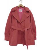 MAX&Co.(マックスアンドコー)の古着「ショートトレンチコート」|ピンク