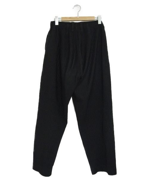 HOMME PLISSE ISSEY MIYAKE(オムプリッセイッセイミヤケ)HOMME PLISSE ISSEY MIYAKE (オムプリッセイッセイミヤケ) プリーツワイドパンツ ブラック サイズ:2 HP55JF003の古着・服飾アイテム